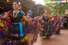 Ballet Folklorico dancers.