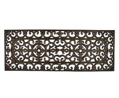 The First Impression Grill Elegant Double Outdoor Door Mat is featured in an extra long design to fully cover your front door area. The heavy-duty rubber. Rubber Door Mat, Entry Mats, Mat Online, Rubber Material, Make Design, Modern Boho, Rug Size, Scandinavian, Colours
