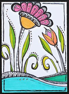 ATC - Zenspirations Floral Landscape 2 by Pink Palindrome, via Flickr