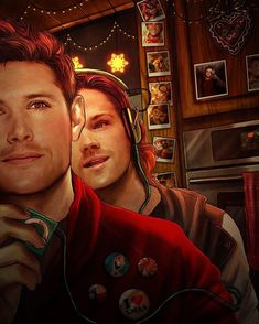 「Jared and Jensen enjoying some Christmas music together. Don't forget what's baking in the oven, guys! ♥