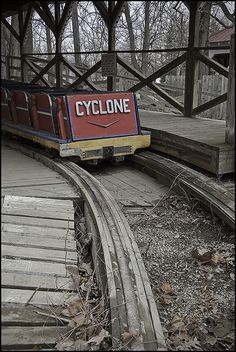 Abandoned Cyclone Roller Coaster at an Amusement Park. @YoungDumbAndFun - Travel Blog - Travel Blog