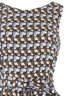 Cat print dress!