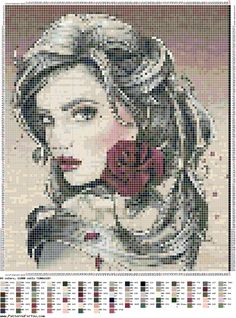 Cross Stitch Needles, Cross Stitch Art, Cross Stitching, Cross Stitch Embroidery, Disney Cross Stitch Patterns, Flower Seeds, Pansies, Blackwork, Pixel Art