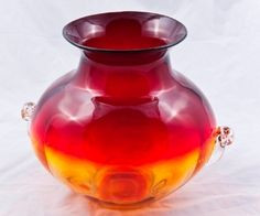 Vase  - also comes in a great blue/green with gold color. Blenko Glass Facotry