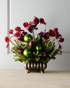 """""""Bordeaux"""" Floral Arrangement  #Floral Arrangement #Holiday #Horchow"""