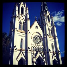 Cathedral of St. John the Baptist - never get tired of seeing photos of this beautiful building in Savannah!