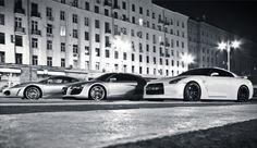 Ferrari F430 x Audi R8 x Nissan GT-R