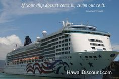 """""""If your ship doesn't come in, swim out to it."""" #quote"""