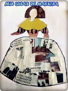Ya que hemos conocido un poco sobre la vida y obra del gran pintor español Diego Velázquez , hemos decidido hacer en Plástica una de sus fa... Kids Collage, Hispanic Art, Jr Art, Baroque Art, Newspaper Crafts, Collage Illustration, Chef D Oeuvre, Art Lessons Elementary, Kids Inspire