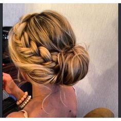 Side braided updo fun things to do with your hair