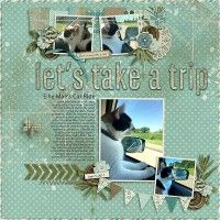 """Not sure what Ellie Mae thought about the trip to Kelsey's but I got a few pictures to show that she certainly was curious...and I might add pretty nervous! I used Created by Jill's """"Looking Back"""" kit with Heartstring Scrap Art's """"Wunderlust"""" templates.  KIT: https://www.pickleberrypop.com/shop/product.php?productid=53133&cat=0&featured=Y  TEMP: https://www.pickleberrypop.com/shop/product.php?productid=53104&cat=0&featured=Y"""