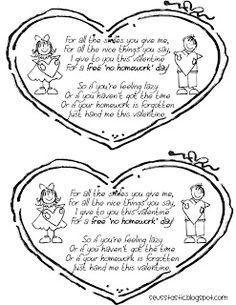FREE Valentine's Day no homework pass!
