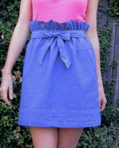 Paper Bag Skirt From Vintage Sheet. Excellent tutorial by Sara R.