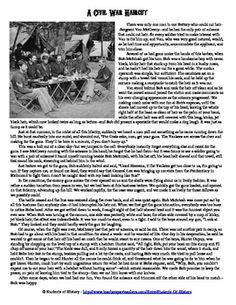 eighth grade reading comprehension worksheet harriet tubman civil war spy comprehension. Black Bedroom Furniture Sets. Home Design Ideas