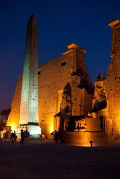 Luxor Temple at night by Mendonça