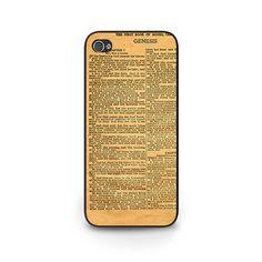 Book of Genesis Phone Case - Vintage Bible iPhone Case - Vintage Bible Samsung Galaxy Cell Phone Case