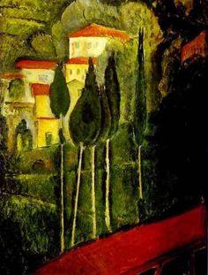 Landscape - Amedeo Modigliani, 1919 http://fuckyeahexpressionism.tumblr.com/post/7058895051/fuckyeah-arthistory-landscape-amedeo