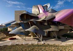 Hotel Marques de Riscal, Elciego, Spain. Frank Gehry