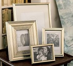 Eliza Gilt Picture Frame, 5 x Wide Frame, Champagne Gilt finish At Pottery Barn - Decor & Pillows - Frames Pottery Barn, Simple Borders, Gallery Frames, Gallery Wall, Table Top Display, Custom Rugs, Hanging Pictures, Box Frames, Plexus Products