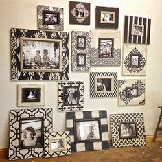 Delta Girl Distressed Frames: Black and White Frames for a Gallery Wall
