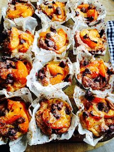 Juicy apricots and rich dark chocolate make these small versions of a classic bread and butter pudding the ultimate weekend treat.