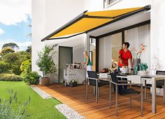 markilux 990 - kleiner und kompakter Sonnenschutz mit hohem ästhetischen Anspruch.