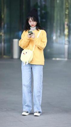Korean Girl Fashion, Korean Street Fashion, Mode Outfits, Girl Outfits, Fashion Outfits, African Dresses For Kids, Dance Moms Videos, Cute Korean Boys, Looks Street Style