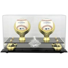 Chicago White Sox Fanatics Authentic 2005 World Series Golden Classic Two Baseball Champs Logo Display Case - $59.99