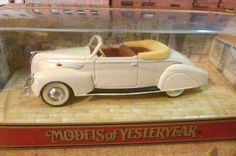 Matchbox Model of Yesteryear 1938 Lincoln Zephyr Convertible  1/43rd Diecast  #Matchbox #Lincoln