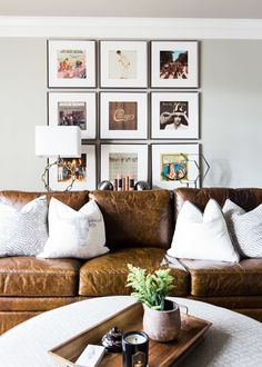 Art and gallery wall inspiration. Crisp spaces with sophistication and whismy are what designer Julie Couch is known for. Image: Alyssa Rosenheck. See more at StyleBlueprint.com.