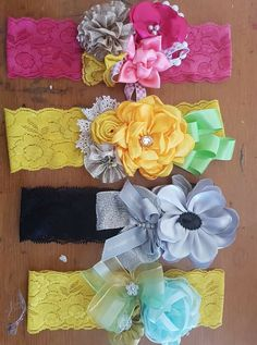 Discover thousands of images about Headbands Baby Girl Hair Bows, Baby Girl Headbands, Headband Tutorial, Diy Headband, Diy Flowers, Fabric Flowers, Homemade Bows, Bow Hairband, Baby Girl Patterns