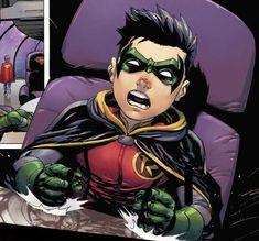SUPER SONS. Robin. Damian Wayne. Damian Wayne Batman, Batman Y Superman, Son Of Batman, Jason Todd Batman, Superman Family, Batman Comic Art, Batman Robin, Marvel Dc Comics, Talia Al Ghul