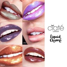Lip colour has taken a twist with Ciaté London's LIQUID CHROME. Colour-shifting, shade-flipping duo chrome pigments have been added to high-shine gloss for a po
