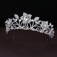 Vintage Rhinestone Tiara Crown