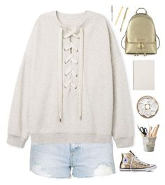 """""""Back to school """" by genesis129 ❤ liked on Polyvore featuring Topshop, Converse, Michael Kors, ESSEY, Kate Spade, Swarovski and Cartier"""