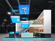 Exhibition Stand Design, Exhibition Booth, Display Design, Booth Design, Expo Stand, Double Deck, Online Portfolio, Trade Show, Creative Inspiration