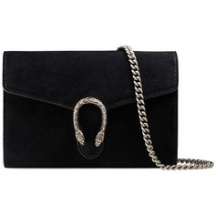 Gucci Dionysus Suede Mini Chain Bag found on Polyvore featuring bags, handbags, shoulder bags, gucci, black, chain handle handbags, chain strap handbag, gucci purses, mini shoulder bag and structured purse
