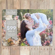 INSTANT DOWNLOAD - Mothers Day Marketing Board, Mini Session Template, Photoshop Template, Mommy and Me