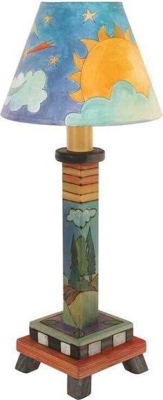 Milled Candlestick Lamp S38396 | Sticks Handmade Candlestick Lamps, Candlesticks, Sticks Furniture, Magnetic Calendar, Image Name, Paper Towel Holder, Hot Pads, Online Gifts, Handmade Art