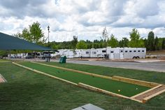RV and horse trailer parking at Tryon International Equestrian Centre