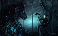 Gothic Dragon Wallpaper | gothic fantasy art dark mech dragons women females mood wallpaper ...