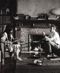 Watson and Sherlock working hard. Awww, he made her breakfast.