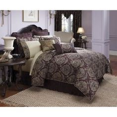 Love this bedspread! Croscill Home Traviata California King Comforter Set, Plum *Purchased Country Bedspreads, Dream Bedroom, Master Bedroom, Beds For Kids Girls, Croscill Bedding, Bedroom Furniture, Bedroom Decor, Bedroom Ideas, California King Bedding