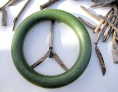 How to make a driftwood peace sign tutorial