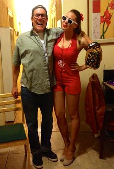 Wendy and Squints for Halloween!!! Cutest halloween couple outfits ever!!!!!