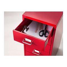 HELMER Ladeblok op wielen - rood - IKEA