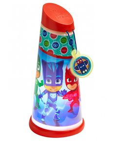 PJ Masks Tilt Torch by GoGlow. Simply tilt the torch and the light magically appears, and when you set the torch down it transforms into a comforting kids' night light that fades after 2 minutes. Tilt the torch and its beam lights up instantly. Best Torch, Ceiling Light Shades, Cute Planner, Pj Mask, Torch Light, Desk Light, Led Flashlight, Night Light, Ladybug