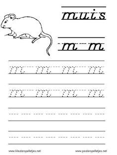 LETTER M | letters leren herkennen en schrijven, alfabet printbladen a t/m z