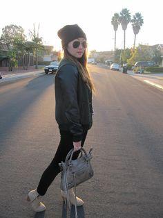 lettermen jacket and velvet pants     http://ko-efficient.blogspot.com/