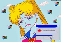 aesthetic ecchi: Vaporwave edit (Sailor Moon)